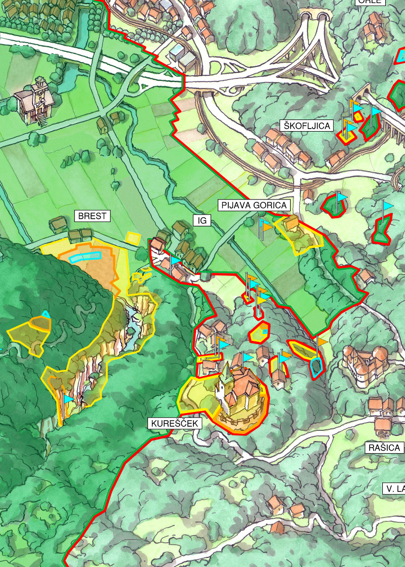 Water Protection Areas in Ljubljana and Surroundings